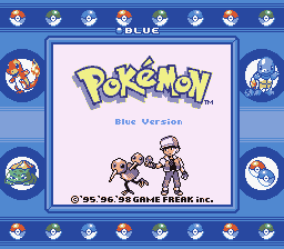 Pokemon Blue - SGB2 & Border Version - User Screenshot